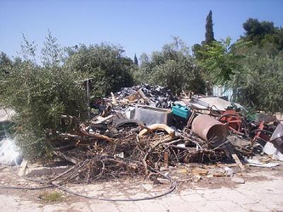 Trash Behind Eastern Gate