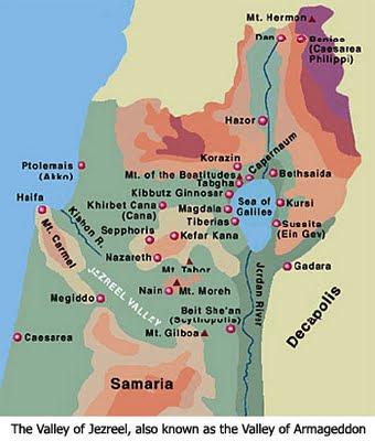 Valley of Jezreel Map