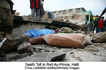 Death Toll in Port-Au-Prince, Haiti