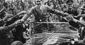Hitler in Crowd