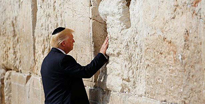 Donald Trump at the Western Wall