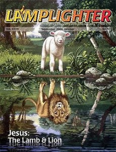 Jesus the Lamb and Lion Lamplighter