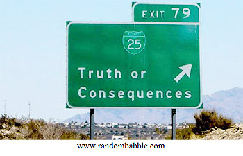 Truth Road Sign