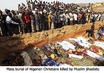 Mass burial of Nigerian Christians