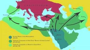 Islam's Spread Map 1