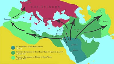 Islam's Spread Map 1