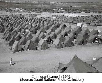 Immigrant Camp in 1949