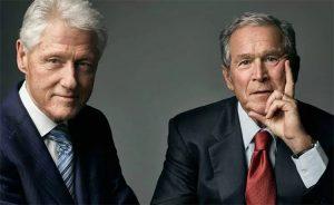 Presidents Clinton and GW Bush
