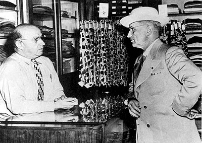 Eddie Jacobson with Harry Truman
