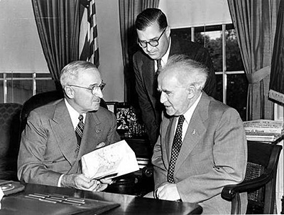 President Truman with David Ben-Gurion