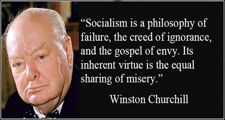 Churchill Quote on Socialism