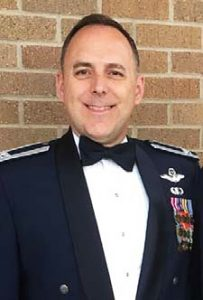 Tim Moore at Air Force Retirement Ceremony