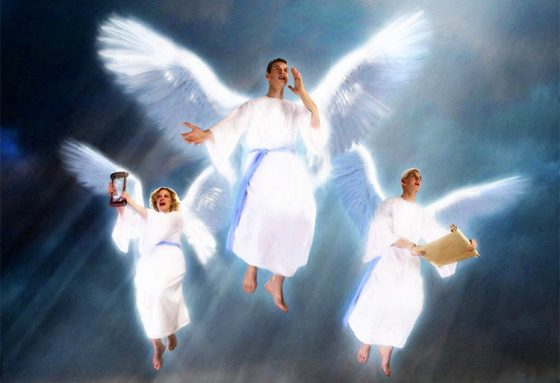 The Flight of the Gospel Angel