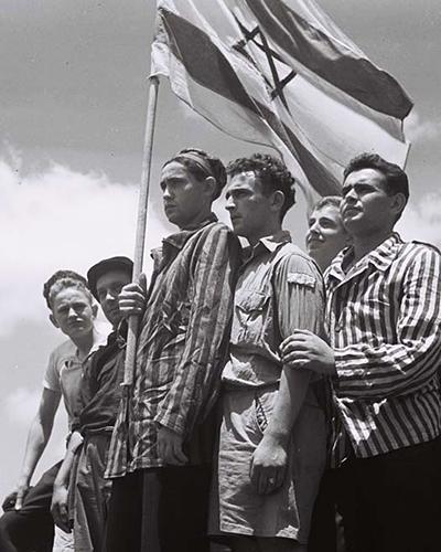 Survivors of the Buchenwald Death Camp