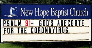 Psalm 91 God's Anecdote for the Coronavirus