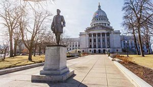 Statue of Hans Christian Heg at the Wisconsin Capitol
