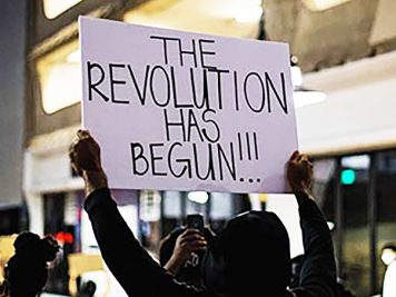 Protesters in Dallas TX
